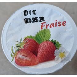 yaourt fermier à la fraise